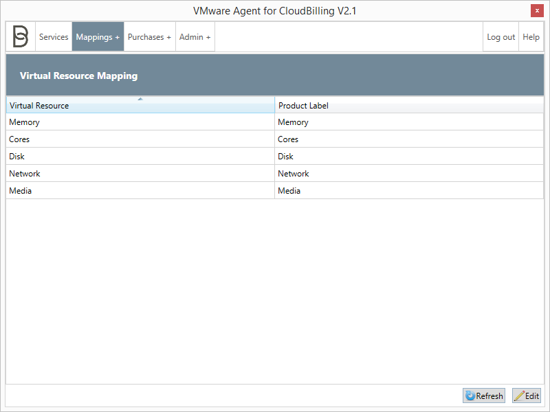 *Figure 1:* The Virtual Resource Mapping screen.